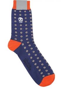 Хлопковые носки с цветочным узором Alexander McQueen