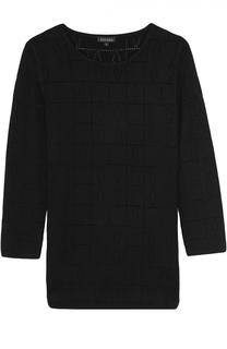 Облегающий пуловер с перфорацией и круглым вырезом Escada
