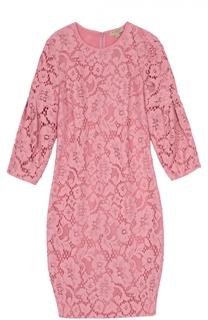 Кружевное мини-платье с укороченным рукавом Burberry