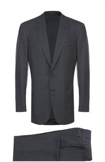 Костюм из смеси шерсти и шелка с пиджаком на двух пуговицах Brioni