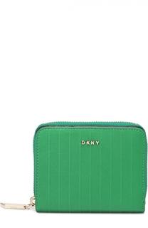 Кожаное портмоне на молнии DKNY