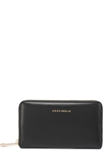 Бумажник из сафьяновой кожи на молнии Coccinelle