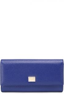 Кожаный кошелек с тиснением Dauphine Dolce & Gabbana