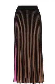 Плиссированная юбка-миди в контрастную полоску Kenzo