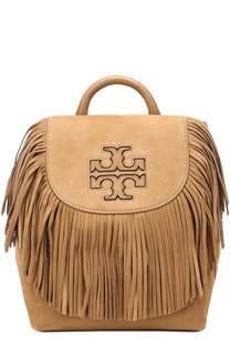 Замшевый рюкзак Harper Fringe Mini Tory Burch
