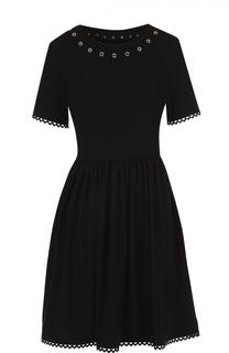 Приталенное мини-платье с декоративной отделкой Kenzo