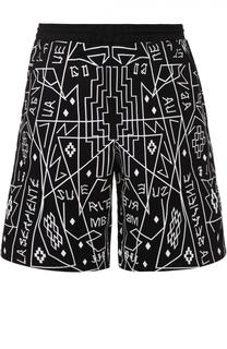 Хлопковые шорты свободного кроя с принтом Marcelo Burlon