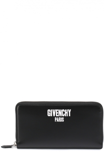 Кожаное портмоне на молнии с отделением для кредитных карт и монет Givenchy