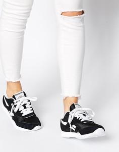 Черно-белые нейлоновые кроссовки Reebok Classic - Черный