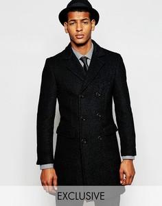 Двубортное пальто из 75% шерсти Feraud - Черный