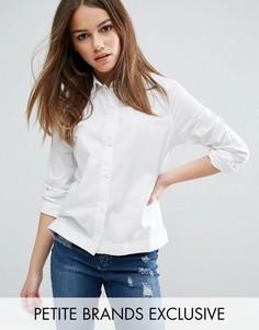 Белая приталенная рубашка Waven Petite - Белый