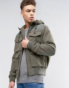 Куртка-пилот из ткани рипстоп цвета хаки с 4 карманами ASOS - Зеленый