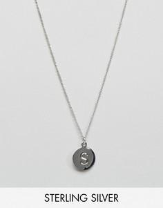 Серебряное ожерелье с буквой S Fashionology - Серебряный