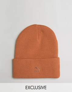 Оранжевая шапка-бини Puma Archive No 1 эксклюзивно для ASOS 02142801 - Оранжевый