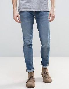 Синие узкие джинсы Nudie GrimTim - Синий