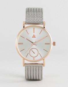 Часы с сетчатым ремешком ASOS Premium - Мульти