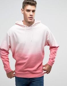 Oversize-худи с эффектом деграде ASOS - Розовый