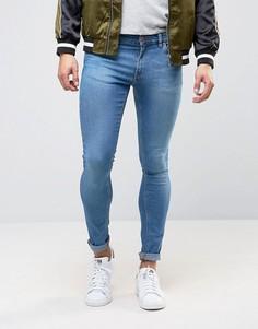 Синие супероблегающие джинсы ASOS - Синий