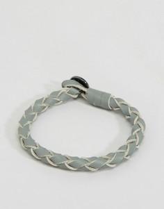 Кожаный браслет премиум-класса Icon Brand - Серый