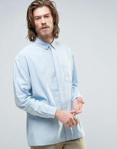Голубая оксфордская oversize-рубашка ASOS - Темно-синий
