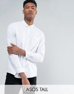 Белая оксфордская рубашка классического кроя в стиле casual ASOS TALL - Белый