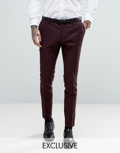 Суперузкие брюки с однотонным принтом Noak - Красный