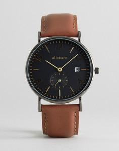 Часы с кожаным ремешком Breda Classic - Коричневый