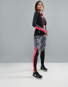 Спортивные леггинсы с ярким принтом Elle Sport - Черный