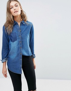 Джинсовая рубашка JDY Janet - Синий