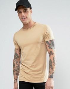 Обтягивающая футболка Liquor & Poker - Бежевый