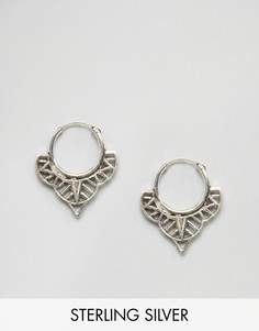 Серебряные серьги-кольца Fashionology - Серебряный