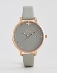Часы с серым кожаным ремешком Olivia Burton Bee - Серый