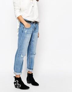 Прямые джинсы бойфренда New Look - Синий
