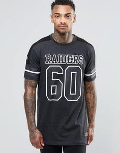 Длинная футболка Majestic Raiders - Черный
