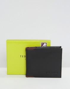 Кожаный кошелек двойного сложения Ted Baker - Черный