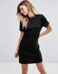 Платье-рубашка с короткими рукавами Vila - Черный