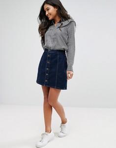 Джинсовая юбка‑трапеция New Look - Черный