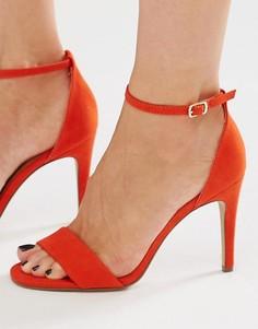 Босоножки на каблуке в минималистском стиле New Look - Оранжевый