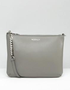 Кожаная сумка через плечо Modalu - Серый