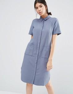 Платье-рубашка Vila Vana - Серый