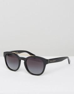 Круглые солнцезащитные очки Dolce & Gabbana - Черный