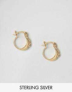 Позолоченные серебряные серьги-кольца 12 мм ASOS - Золотой