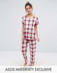 Пижама в клетку для беременных ASOS Maternity - Красный