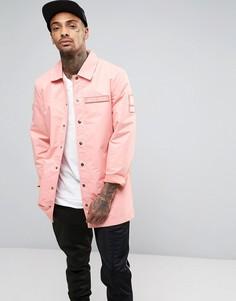 Спортивная куртка с карманами в стиле милитари Dxpe Chef - Розовый