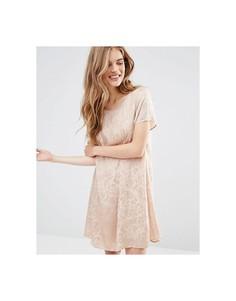 Цельнокройное платье Vila - Коричневый