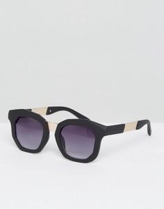 Массивные солнцезащитные очки в стиле ретро AJ Morgan - Черный