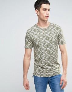Приталенная футболка с принтом Only & Sons - Зеленый