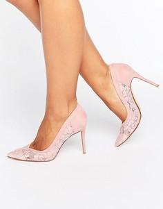 Кружевные туфли-лодочки с острым носком Dune Bridal Buffie - Розовый