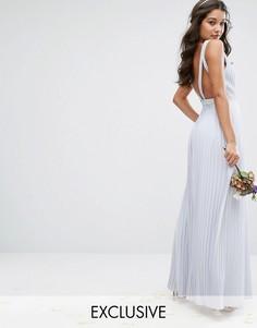 Платье макси TFNC WEDDING - Синий