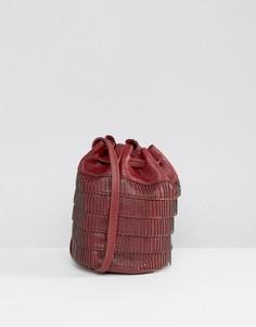 Присборенная сумка на плечо с отделкой бисером Gracie Roberts - Красный